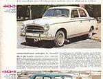 Los Peugeot 403, 404 y 404 Rural del año 1963 publicado en Archivo de autos