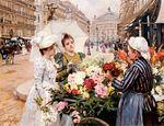 """""""La vendedora de flores en la Avenue..."""", de  Louis Marie de Schryver publicado en Arte"""