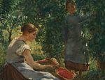 """""""Muchacha con frutillas"""", de Cuno Amiet published in Arte"""