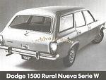 Dodge 1500  Rural Nueva Serie W 1980 publicado en Archivo de autos
