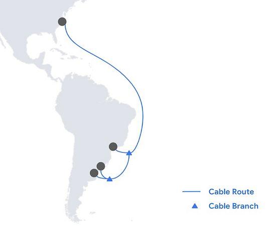 Google anunció un nuevo cable submarino para Brasil-Uruguay-Argentina published in Noticias