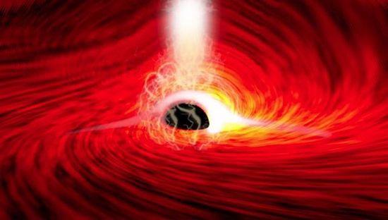 Primera detección de luz detrás de un agujero negro published in La Caja de Pandora Ω 10.600